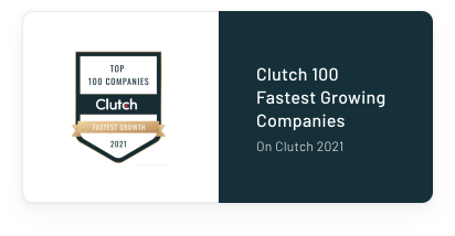 Clutch 100 Fastest Growing Companies