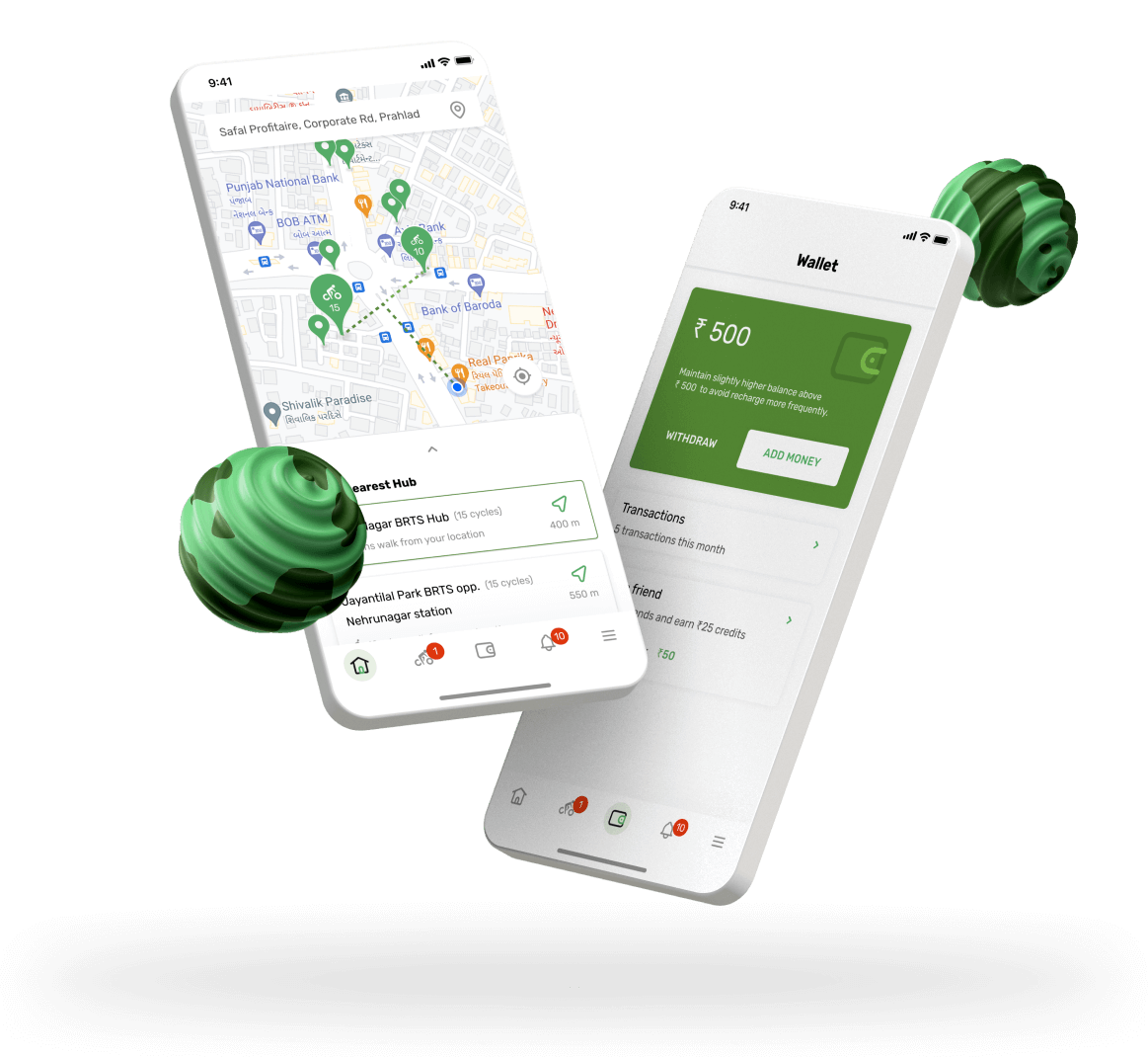 Bicycle sharing Mobile App